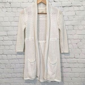 Anthropologie Sweater Cardigan White Small